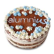 Eine Torte mit dem Logo des Alumni-Netzwerks