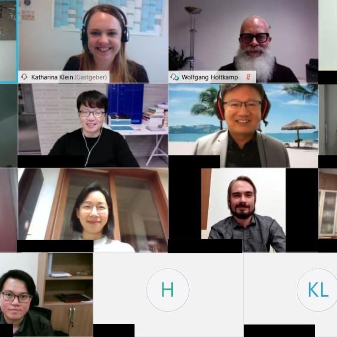 Virtuelles Alumni-Treffen Korea