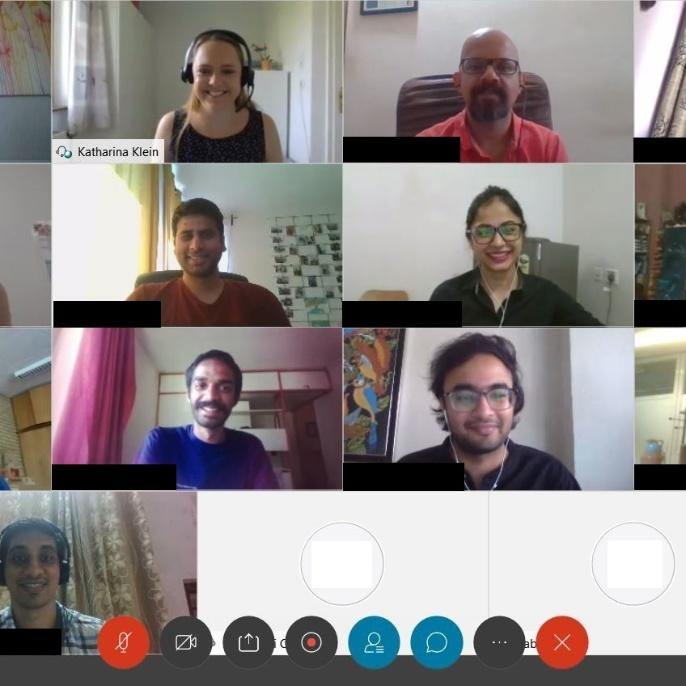 Virtuelles Alumni-Treffen Indien